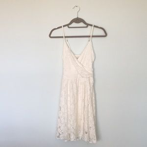 Abercrombie Fitch White Lace Wrap Dress